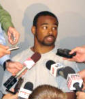 DB Anderson Russell speaks to the media Tuesday October 30th after practice