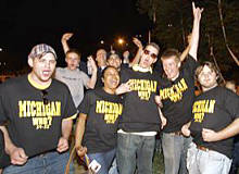 Appalachian State's welcome home party included fans wearing