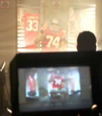 Barton, an All-Big Ten performer in 2006 is featured in the Big Ten's football television ad
