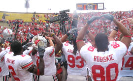 Buckeyes celebrate after beating Washington.