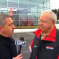 Mike Nabors from Cox Sports TV interviews former OSU coach Earle Bruce about the upcoming game