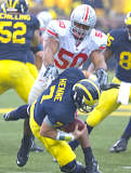 Junior defensive end Vernon Gholston notched his 11th, 12th and 13th quarterback sack of the season Saturday to tie the Ohio State single-season sacks record held by Mike Vrabel in 1995.