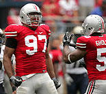 OSU defensive tackle Cameron Heyward, made a decision to forgo attending Pittsburgh, the alma mater of his father, running back Craig 'Ironhead' Heyward, to play for the Buckeyes with help from the ever-watchful eye of his mother Charlotte Heyward-Blackwell.