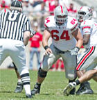 Ohio State football coach Jim Tressel said of center Jim Cordle, shown above during this year's spring game: