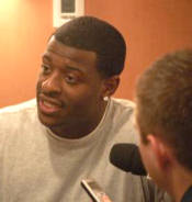 Lawrence Wilson, a junior defensive end, was injured in the 2007 season opener vs. Youngstown State Sept. 1. He spoke with media for the first time since his injury