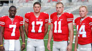 OSU QBS: Antonio Henton, Todd Boeckman, Rob Schoenhoft and Joe Bauserman