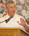 Jim Tressel meets with the media to preview Spring Practice