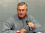 Coach Tressel speaks to the media