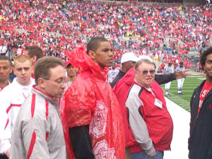 Future Buckeye Terrelle Pryor on sidelines at OSU Spring Game