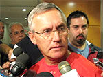Head Coach Jim Tressel cut his conference short when the discussion turned to Ray Small and not Northwestern