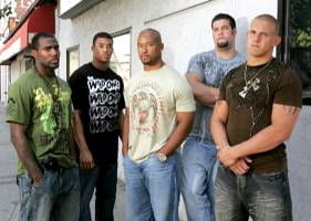 Five Who Stayed: From left, Malcolm Jenkins, Brian Robiskie, Marcus Freeman, Alex Boone, and James Laurinaitis chose to play a senior season at Ohio State rather than take the certain cash awaiting them in the NFL.