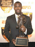 Malcolm Jenkins was honored as the best defensive back in college football this season when he was awarded the Thorpe Award on Thursday.