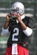 When freshman Terrelle Pryor first came out to practice, he wasn't wearing a black jersey that lets teammates know not to hit him.