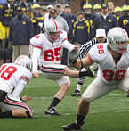 Ohio State kicker Ryan Pretorius in action against TSUN