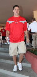 OSU senior QB Todd Boeckman checks in with the rest of the Buckeyes for fall camp on Sunday August 3, 2008