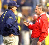 Jim Tressel owns a 5-1 record against Llllloyd Carr in the series