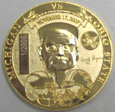 Coach Hayes side of coin
