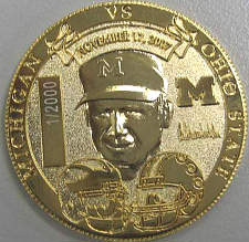 Coach Schembechler side of coin