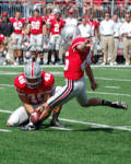 Ohio State's Ryan Pretorius kicked a career high four field goals against YSU.