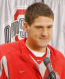 Quarterback Todd Boeckman meets with the media during football press day