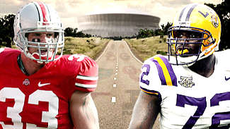 No. 1 Ohio State and No. 2 LSU will meet for the BCS title on Jan. 7 in the Superdome in New Orleans