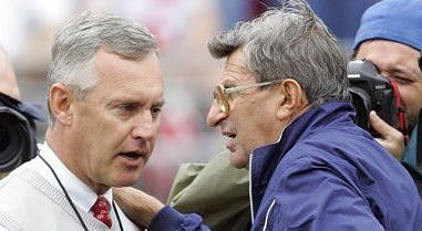 Jim Tressel and Joe Paterno Photo/Associated Press