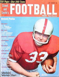 Ohio State's Bob White on the cover of Street and Smith's Football Yearbook