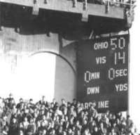 The Game: 1968 Final Score OSU 50 UM 14