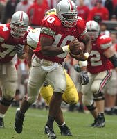 QB Troy Smith leads the Buckeyes to victory over the University of Michigan in The Game.