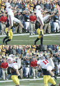 Anthony Gonzalez's acrobatic, 26-yard catch with 37 seconds left set up the decisive touchdown in OSU's 25-21 victory over Michigan, made the game an ESPN Instant Classic and cemented his place in Buckeye lore.